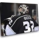 Jonathan Quick Los Angeles Kings Goaltender Hockey 30x20 Framed Canvas Print