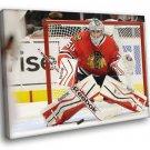 Corey Crawford Chicago Blackhawks Goaltender Sport 30x20 Framed Canvas Print