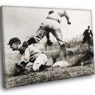 Ty Cobb Detroit Tigers Vintage Retro BW Baseball 30x20 Framed Canvas Print