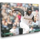 Andrew McCutchen Pittsburgh Pirates Baseball Sport 30x20 Framed Canvas Print