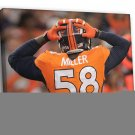 Von Miller Denver Broncos Football Sport 30x20 Framed Canvas Print