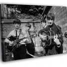 The Beatles BW Incredible Rare Retro Band 30x20 Framed Canvas Print