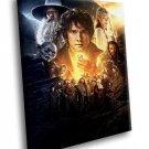 Hobbit Bilbo Baggins Gandalf Dwarves Gollum 30x20 Framed Canvas Art Print