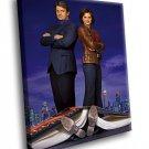 Castle TV Series Nathan Fillion Stana Katic 30x20 Framed Canvas Art Print