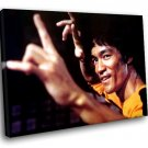 Bruce Lee Actor Martial Arts 30x20 Framed Canvas Art Print