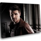 David Boreanaz Actor Special Agent Seeley Booth 30x20 Framed Canvas Art Print