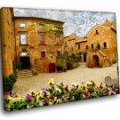 Italy Civita Di Bagnoregio Medieval Town 30x20 Framed Canvas Art Print
