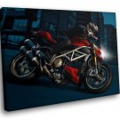 Ducati Streetfighter Super Bike 30x20 Framed Canvas Art Print