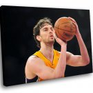 Pau Gasol Basketball Los Angeles Lakers 30x20 Framed Canvas Art Print