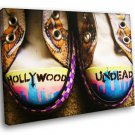Hollywood Undead Logo Gumshoes Rap Rock Band Music 30x20 Framed Canvas Art Print