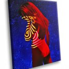 Colorful Photo Model Hot Girl Red Hair 30x20 Framed Canvas Art Print