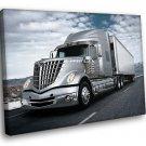 International LoneStar Semi Trailer Truck 30x20 Framed Canvas Art Print