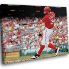 Bryce Harper Baseball Washington Nationals Sport 30x20 Framed Canvas Art Print