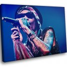 Wiz Khalifa Rapper Perfomance Music 30x20 Framed Canvas Art Print
