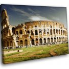 Italy Colosseum Clouds Home D Cor 30x20 Framed Canvas Art Print