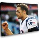 Tom Brady American Football New England Patriots 30x20 Framed Canvas Art Print