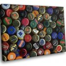 Beer Bottle Brands Collection 30x20 Framed Canvas Art Print