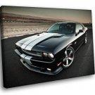 Dodge Challenger Road White Stripes 30x20 Framed Canvas Art Print