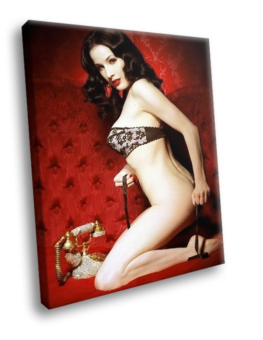Dita Von Teese Hot Thongs Bra Telephone 30x20 Framed Canvas Art Print