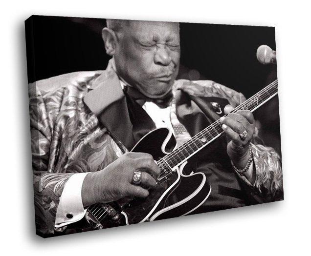 B B King Blues Musician Singer Greatest Guitarist 30x20 Framed Canvas Art Print