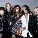 Aerosmith Steven Tyler Awesome USA Flag Retro Band 32x24 Wall Print POSTER