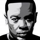 Dr Dre Amazing BW Portrait Art Gangsta Rap Music 32x24 Wall Print POSTER