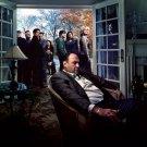 The Sopranos Characters Tony James Gandolfini TV Series 32x24 Wall Print POSTER