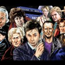 All Doctors David Tennant Art Doctor Who TV Series 32x24 Wall Print POSTER