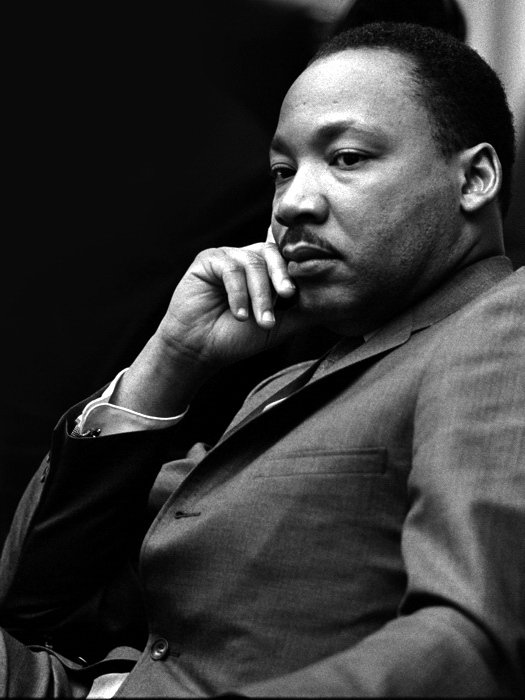 MLK Martin Luther King Jr Civil Rights Old Retro BW 32x24 Wall Print POSTER