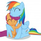 Rainbow Dash Scootaloo My Little Pony Friendship Cute 32x24 Wall Print POSTER