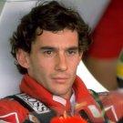 Ayrton Senna Da Silva Formula One Race Driver Portrait 32x24 Wall Print POSTER