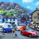 England Landscape Town Cars Beautiful Oil Painting 32x24 Print Poster