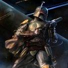 Boba Fett Amazing Painting Artwork Star Wars 32x24 Print Poster