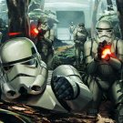 Stormtroopers Yavin 4 Battle Fight Star Wars Art 32x24 Print Poster