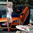 Mandy Lange Audi Hot Sexy Babe Woman Car 32x24 Print Poster