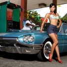 Gas Station Hot Sexy Babe Woman Car Miss Tuning 32x24 Print Poster