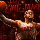 LeBron James Slam Dunk Art Painting Artwork 32x24 Print Poster