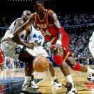 Hakeem Olajuwon Shaquille O Neal Basketball 32x24 Print Poster