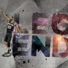 Tim Duncan Legend San Antonio Spurs Art Sport 32x24 Print Poster