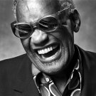 Ray Charles BW Portrait Smile Retro Music Artist Singer 24x18 Wall Print POSTER