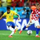 Neymar Jr Pass FIFA World Cup Brazil Soccer Football 24x18 Wall Print POSTER