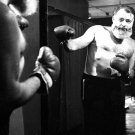 Ernest Hemingway Writer Mirror Boxing Punch Reflection 24x18 Wall Print POSTER