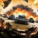 World Of Tanks Video Game WoT Awesome Art 24x18 Wall Print POSTER