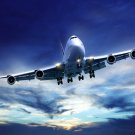 Boeing Airliner Beautiful Airplane Blue Sky Aircraft 24x18 Wall Print POSTER