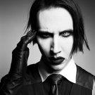 Marilyn Manson BW Portrait Heavy Metal Shock Rock 2014 24x18 Wall Print POSTER