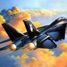 Grumman F 14 Tomcat Black Air Forces Art War Military 24x18 Wall Print POSTER