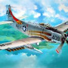 Douglas A 1H Skyraider Air Forces WW2 War Military 24x18 Wall Print POSTER