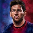 Leo Messi Painting Art Portrait FC Barcelona Soccer 24x18 Print Poster
