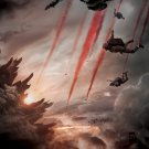 Godzilla 2014 Movie Paratroopers Awesome 24x18 Print Poster