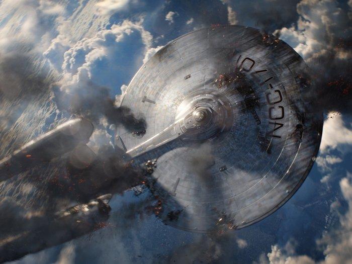 Star Trek Into Darkness NCC 1701 Crash Earth Movie 24x18 Print Poster